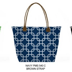 Mackenzie Custom Microfiber Printed Tote with Leatherette Straps