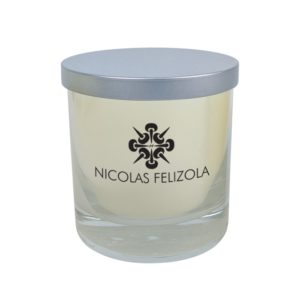 Premium High End Luxe Silver Lid Wooden Wick Candle 9 Oz