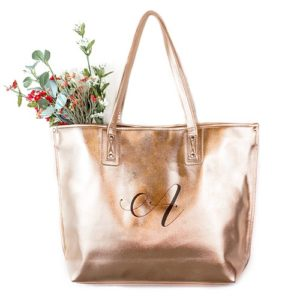 Premium Gold or Silver Metallic Tote