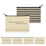 Calista Cotton Canvas Zippered Pouch in Stripes BLLA-570Str