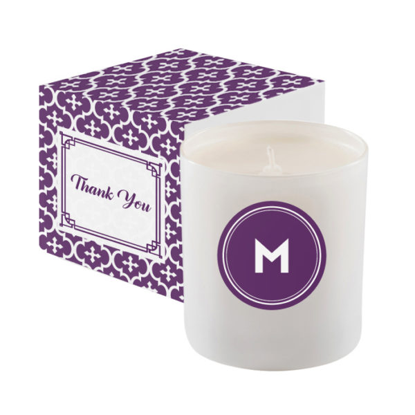 White Glass 11 Oz Candle Premium Gift Box with Branded Wrap BLLA-CAN11SL_purple