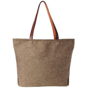 Hansel Hemp Tote with Leatherette Straps