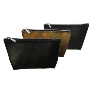 Stacy Smooth Leatherette Trapezoid Gusseted Zippered Case