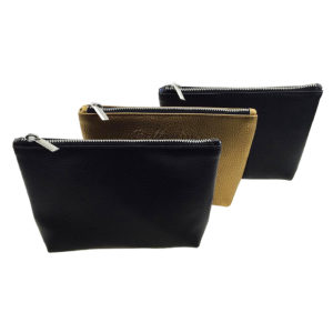 Trish Textured Leatherette Trapezoid Gusseted Zippered Case