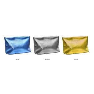 Madison Metallic Faux Leather Premium Zippered Case