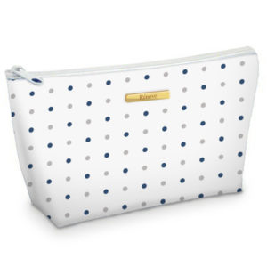 Mackenzie Custom Cosmetic Bag Microfiber Case with Logo Plate