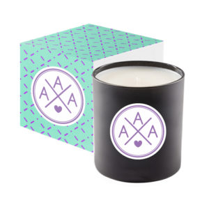 Black Glass 11 Oz Candle Premium Gift Box with Branded Wrap