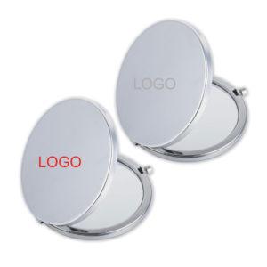 Classy Silver Push-Button Mirror