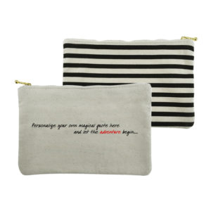 Calista Canvas Zippered Pouch Gold Zipper
