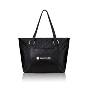 Sophie Satin Quilted Tote with Liner