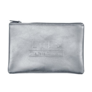 Sadee Metallic Silver or Gold Flat Zippered Pouch