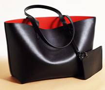 Leather Deluxe Tote & Pouch Set
