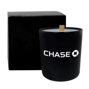 Black Glass 11 Oz Candle with Wooden Wick